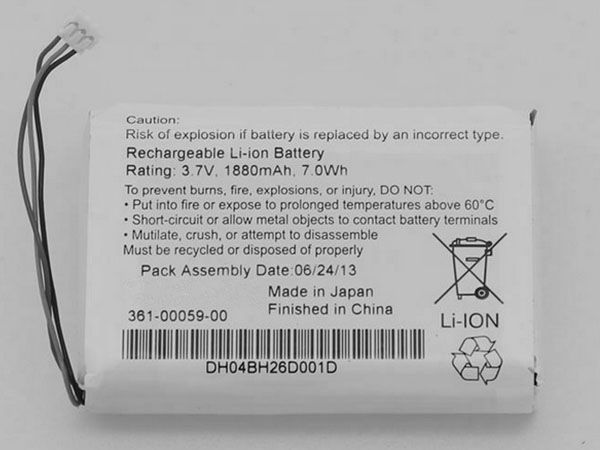 Garmin 361-00059-00 1880mAh 7Wh 3.7V battery for GARMIN Zumo 350LM Zumo 340LM