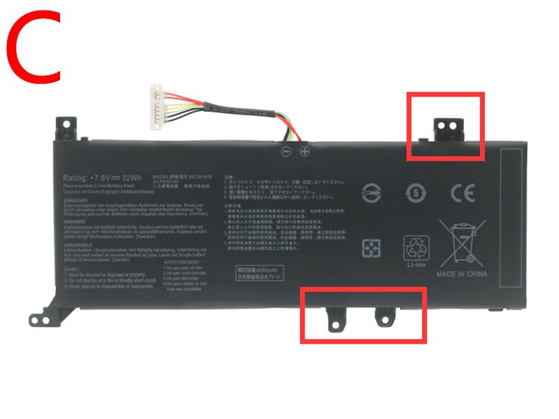 ASUS C21N1818 4850mAh 37Wh 7.7V laptop battery for Asus VivoBook 14 F412DA X412FJ F412FJ A412FA F412FA F412UA