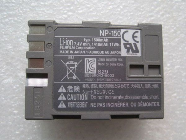 Fujifilm NP-150 1410mAh 11Wh 7.4V battery for Fujifilm S5 S8 Pro IS Pro